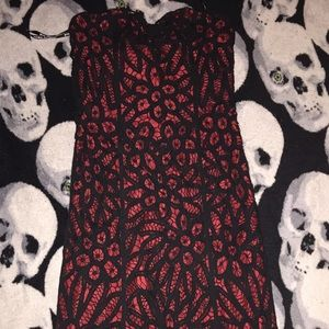 Betsey Johnson Red & Black Lace Dress